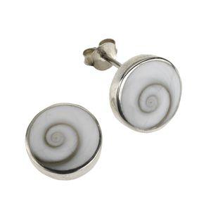 Zeeme Pearls Ohrstecker 925/- Sterling Silber 1,5cm weiß Muschel weiß 342220049