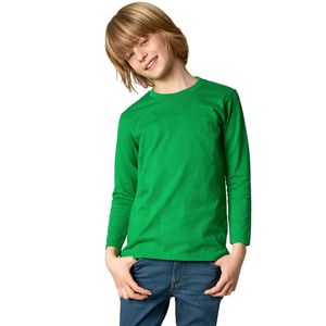 dressforfun Langarm-Shirt Kinder - grün, 116 (5-7 Jahre)