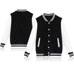 Mode Herren Herbst New Fashion Solid Color Casual Stehkragen Pullover Jacke Größe:M,Farbe:Schwarz