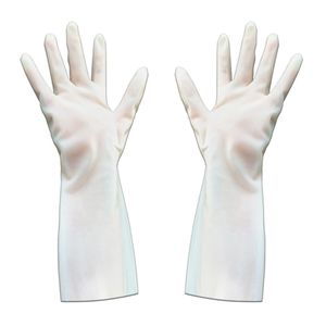 1 Paar Putzhandschuhe Haushaltshandschuhe Spülhandschuhe Gummihandschuhe für Auto Bad Küche Geschirr XL Weiß Modern