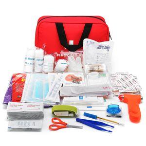 234 Stücke Set Erste Hilfe Kit Notüberlebens Medizinische Tasche Campingausrüstung Home Outdoor Reise Büro Auto Boot