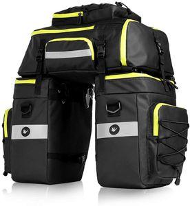 Fahrradtasche 3 in 1 Multifunction wasserdichte Gepäckträgertasche Radfahren Gepäckträger Tasche Reißfest Groß Fahrrad Tasche mit Regen-Abdeckung