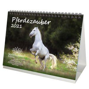 Pferdezauber DIN A5 Tischkalender für 2021 Pferde und Fohlen - Seelenzauber