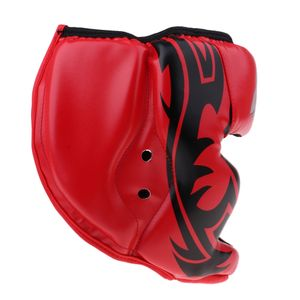 Atmungsaktiver Kopfschutz Helm Boxsport Kampfsport Kopfbedeckung MMA rot wie beschrieben