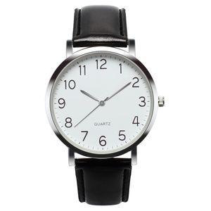 Unisex Simple Business Fashion Leder Quarz Armbanduhr YXP80803645SL