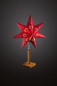 Hellum 576900, Leichte Dekorationsfigur, Rot, Stern, 650 mm, 45 cm, 1,5 m