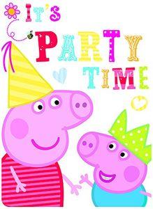 Peppa Pig / Peppa Wutz - 6 Einladungskarten inkl. Umschlag