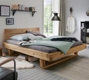 """Bett """"Basiliano""""  Massivholzbett 180x200 cm Fichte natur Doppelbett"""