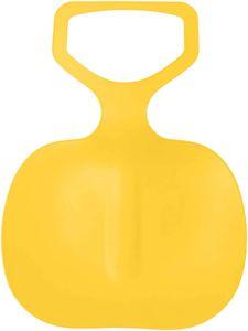Schneeschlitten Kinder Schneerutscher Poporutscher Schnee Flexibel Kunststoff Rutscher Schlitten(Gelb)