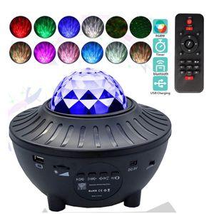 21 Farben Sternenhimmel Projektor Nachtlicht Starry Mond Lampe USB mit Fernbedienung