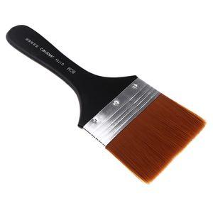 Künstler Malen Pinsel Aquarell Acryl Flachpinsel Ölmalpinsel Acrylmalerei 223 x 80 mm Schwarz + Braun