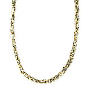 5 mm Königskette Armband Herrenkette Männer Kette Halskette, 17 cm Silber / Gold Edelstahl Ketten