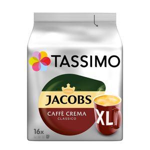 Tassimo Jacobs Caffè Crema Classico XL | 16 T Discs, Kaffeekapseln