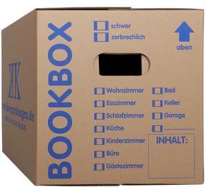 5 Bücherkartons 2-wellig Bookbox Ordnerkartons Archivkartons