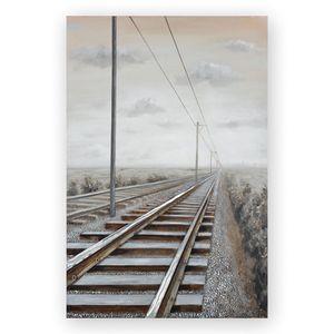 Casablanca 3D Ölbild Railroad mit Aluminium 100x150 42014