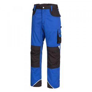 NITRAS® Motion TEX Plus Lange Arbeitshose - Cargohose für Damen & Herren Königsblau / Schwarz 52