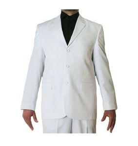Herren Business Smoking Jacke  Anzug Sakko Einzeln 3 Knopf Einreiher Regular Fit 2. Wahl 46-56, Größe Anzüge:52 L, Farbe Anzüge:Weiß