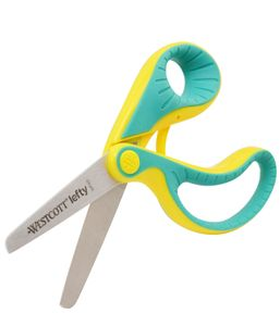 WESTCOTT Bastelschere Softgrip ergo junior Länge: 130 mm grün/gelb