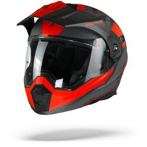 Scorpion ADX-1 Tucson Klapphelm Zemen Grau Matt Rot XL