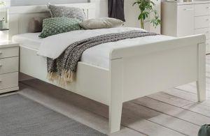 Seniorenbett 100x200 Komfortbett höhenverstellbar Bett weiss Nachbildung - (3115)
