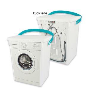 Eimer mit Nachbildung Waschmaschine mit Deckel und Henkel, ca. 5 Liter