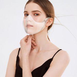 Eine neue klare, beschlagfreie Maske  wiederverwendbares  Waschbar  Visier Dauerhafter Gesichtsschutz Gesichtsschutz Transparente Vollmaske Sport Perfekte Passform  für Transparente Maske Visier