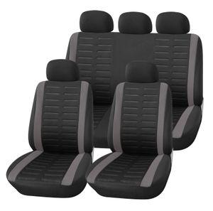Autositzbezüge Set Universal | Upgrade4cars Auto-Schonbezüge in Schwarz Grau für Vorne und Hinten | Auto-Sitzbezug Komplettset | Auto-Zubehör