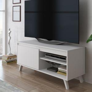 Selsey TV-Lowboard STRICTUM - TV-Schrank im skandinavischen Design - Weiß, 100 cm breit