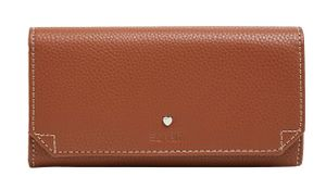ESPRIT Nell Flap Clutch Wallet Rust Brown