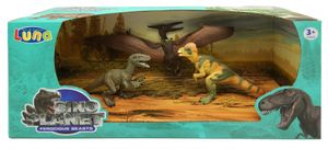Luna spielset Dinosaurier 3-teilig 31 cm mehrfarbig