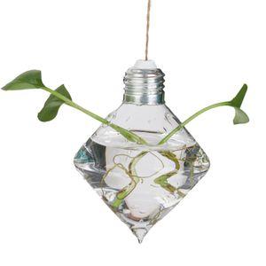 Modern Hängende Glass Vase Blumenvase Pflanze Glas Wandvase Rhombus
