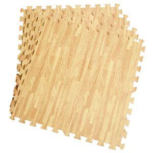 COSTWAY Schutzmatte 12 Stück, Bodenschutzmatte je 60x60x1cm, Puzzlematte aus Eva, Unterlegmatte Fitnessmatte Gymnastikmatte, Matte für Bodenschutz, Farbwahl
