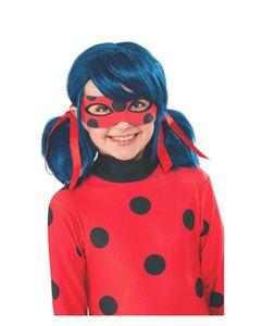 Miraculous Ladybug Kinderperücke für Karneval, Kinderfasching & Kindergeburtstag