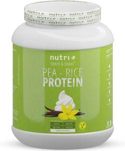 Sojafreies PROTEINPULVER - Pea Rice 1kg - Veganes Eiweißpulver sojafrei - Protein ohne Soja, Gluten & Lactose - Eiweiß Pulver Vegan - In Deutschland hergestellt - Vanille