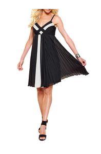 APART Chiffon-Abendkleid, schwarz-weiß Schnäppchen Größe: 34
