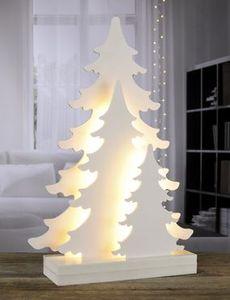 Baumsilhouette mit 22 warm weißen LEDs