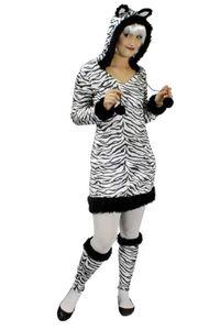 K31250236-34 Damen Zebra Kleid Kostüm Pferd Gr.34