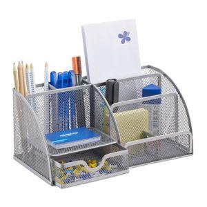 relaxdays Schreibtischorganizer 6 Ablagen Metall