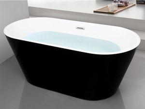 Freistehende Badewanne TWIGGY 150 x 70 x 58 cm, 181 L, Schwarz