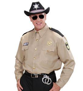 Sheriff-Hemd für Herren Kostüm Police Cop Polizei Polizist Ranger Uniform USA, Größe:XL