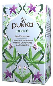 Pukka Peace, Kräutertee, 30 g, Ashwagandha, Hanf, Grüne Minze, CE, Papierschachtel