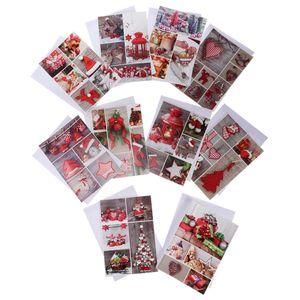 10pcs Grußkarten Glückwunschkarten Einladungskarten Klappkarten Weihnachtskarten mit Umschlag, aus Karftpapier