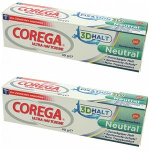 2 x Corega Ultra Haftcreme 40ml ohne Geschmack