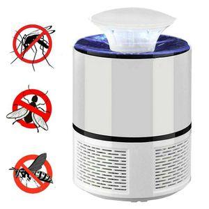 Moskito Killer Insektenvernichter 5W Elektrisch LED Insektenlampe Mückenfalle Elektronischer Insektenvernichter Fliegenfalle Insektenschutz Mückenschutz Weiß