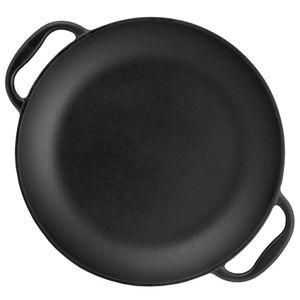 BBQ-Toro Paella Pfanne, 6 Personen | Ø 36 cm | Gusseisen Grillpfanne mit Griffen
