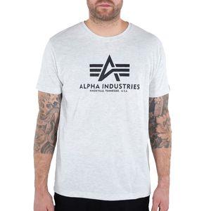 Alpha Industries Herren T-Shirt Basic Logo white melange XXL