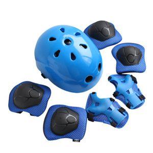 7Stk Kinderhelm Fahrradhelm Kinder Schoner Set, Verstellbarer Kleinkindhelm für Multisport Roller Skateboard Fahren Scooter 3-8 Jahre
