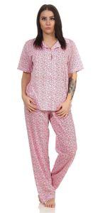 Damen Pyjamas Sets Nachtwäsche, Rosa-Rot L