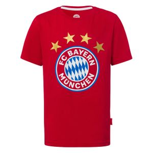 FC BAYERN MÜNCHEN Kinder T-Shirt Logo rot 140