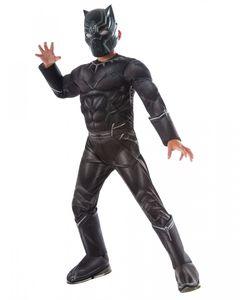Black Panther Muskel-Kinderkostüm für Fasching Größe: M